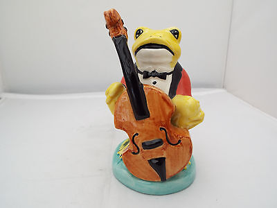 Lorna Bailey Very Rare Frog Double Bass Player Painted By Chris Lewis
