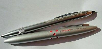 PENS X2 Silver Colour & Etched Formel Formula One 1 McLaren Mercedes F1 Team AT