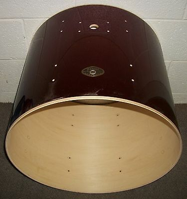 "TAMA ROCKSTAR 22"" Bass Drum SHELL - 18"" Deep - Wine Red Covering"