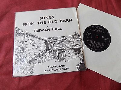 """ALISON ANN KEN BLUE & TAFF Songs from the old barn RARE 7"""" FOLK PRIVATE"""