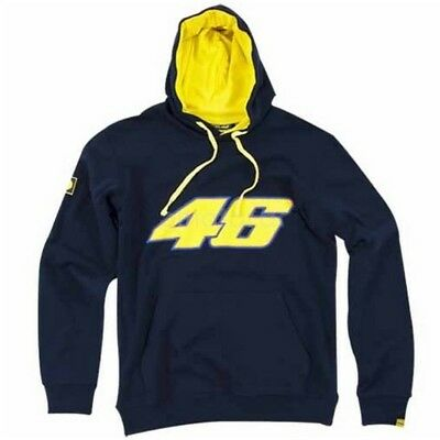 Sweatshirt Adult Hoody Bike MotoGP Valentino Rossi Big 46 Hoodie Navy SMALL CA