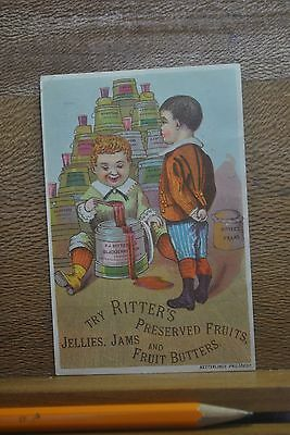 Victorian Boy Watches Lil Brother Playing In Wooden Bucket Of Ritter's Jam