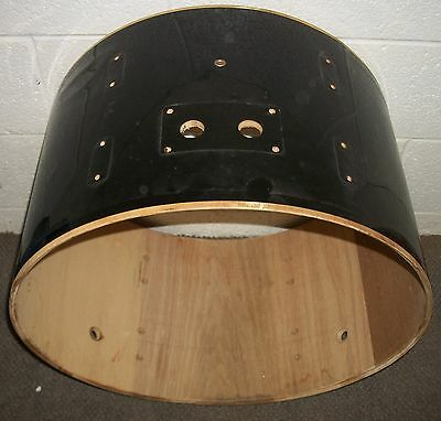 "22"" Bass Drum SHELL - 14"" Deep - Black Covering"