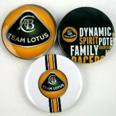PIN BADGES Abzeichen Set of 3 Formula Formel One 1 Team Lotus F1 Metal AT