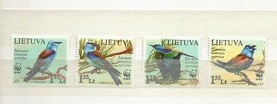 Lithuania Wwf Birds Scott 874-7 Mnh
