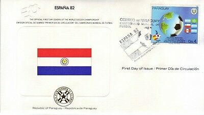 Paraguay - World Cup Soccer, Spain '82 (FDC) 1982