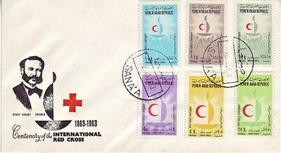 Yemen - Centenary of the International Red Cross (PO FDC) 1963