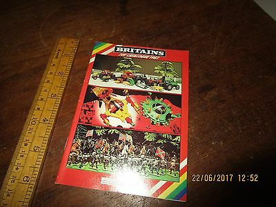 1982 colour Britains catalogue in VGC - Farm / Soldiers / Space / Zoo /Military