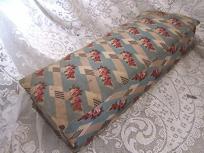 Art Deco French Fabric Covered Oblong Box/Roses