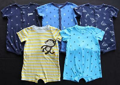 Baby Boy 18 Months Carter's Summer One piece Outfit Romper Clothes Lot Free Ship
