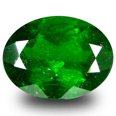 2.29 ct  Exquisite Oval Shape (9 x 7 mm) Green Chrome Diopside Natural Gemstone