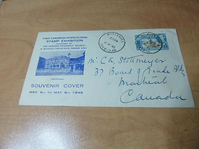 Trinidad Tobago 1948 Air Mail Cover To Canada First Caribbean Stamp Expo.    Rs