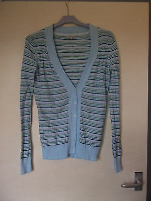great fat face cotton striped cardigan size 10