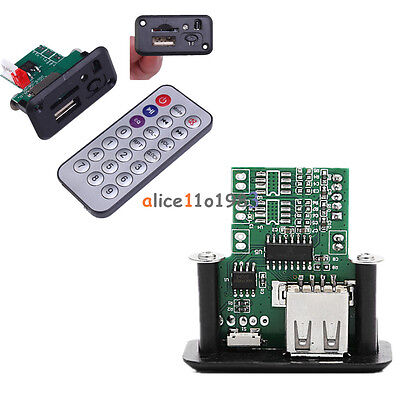 5V 7-12V Mini MP3 Player Module with USB+IR Remote Controller Player for Car