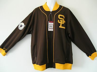 RARE~MITCHELL & NESS SAN DIEGO PADRES Track jersey Jacket Top~Mens Sz XL