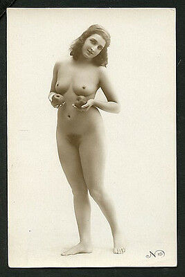 French YOUTHFUL Charming NUDE Comparison Her Ripe APPLES 1925 ~ PARIS Latest!