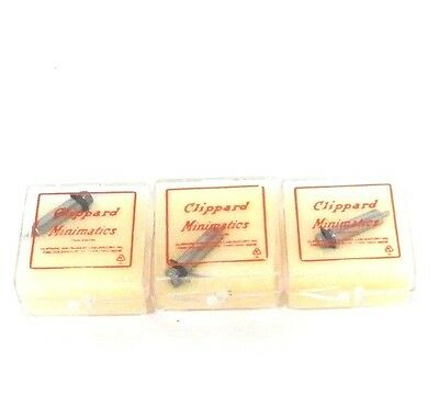 """Lot Of 3 New Clippard Sm2 Cylinder Fittings 5/32"""" Single Acting Spring Return"""