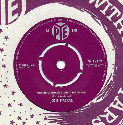 JOSH MACRAE messing about on the river 1961 UK PYE 45