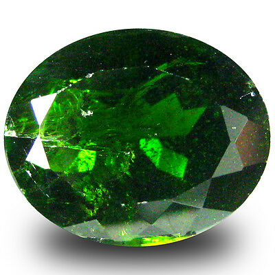 5.51 ct  Lovely Oval Shape (12 x 10 mm) Green Chrome Diopside Natural Gemstone
