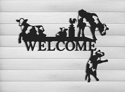 Funny Cow Welcome Sign-Cattle-Dairy Farms-Farm And Ranch Decor #welcow2-24