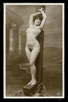 French YOUTHFUL Nude SUBMISSION Front/Rear MARVELOUS Agelou 1915 ~ PARIS Latest