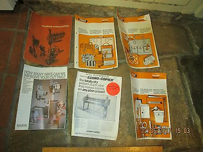 Vintage Pfaff Industrial Sewing machine brochures +Maimin Textile cutter booklet