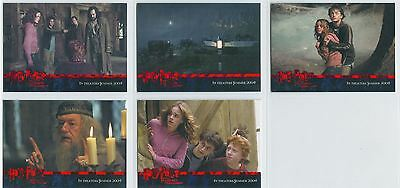 Harry Potter Prisoner Of Azkaban Complete Red Stamped Promo Card Set 1-5