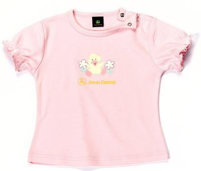John Deere Childs Girls Pink T-Shirt - Available in 12 Months-3 Years