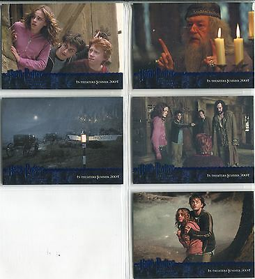Harry Potter Prisoner Of Azkaban Complete Blue Stamped Promo Card Set 1-5