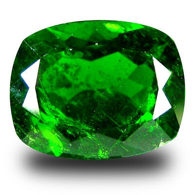 3.64 ct  Excellent Cushion Shape (10 x 8 mm) Green Chrome Diopside Gemstone