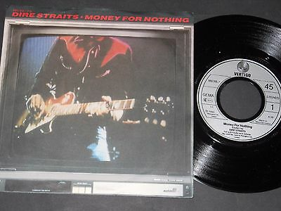 "Vinyl Single 7"" DIRE STRAITS Money For Nothing aus 1985"