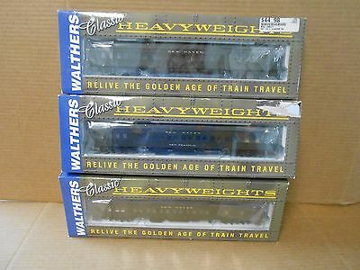 Lot Of (3) Walthers  Pullman Heavyweight Locomotives Ho Scale Train Cars  New !