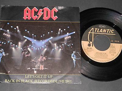 "Vinyl Single 7"" AC/DC Let's Get It Up aus 1981"