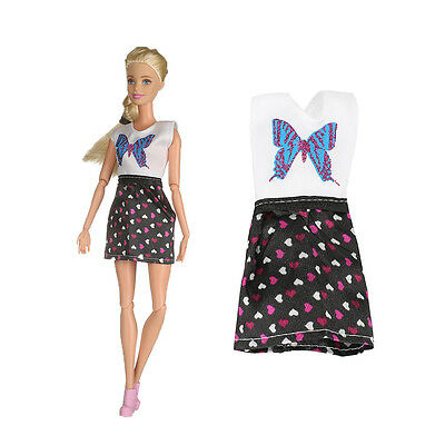 2017 High quality  handmade cool fashion  clothes for Barbie  doll party AB12