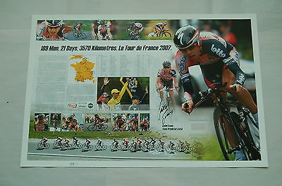 Cadel Evans Hand Signed Tour De France Race Shirt Limited Edition Print