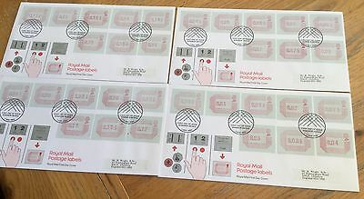 Set Of Royal Mail First Day Covers 1984 Postage Labels Definitives Fdc