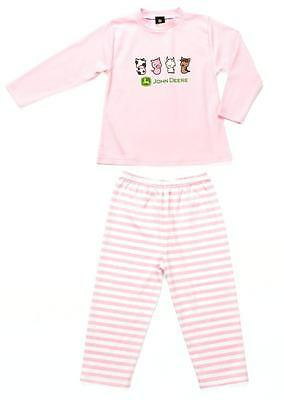 John Deere Childs Pyjamas - Available in Pink Girls or Blue Boys Sizes 3-8 Years