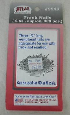 Atlas - HO or N Scale - #2540 - Track Nails - Approximately 400 pieces