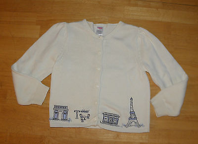 Gymboree Petite Mademoiselle Ivory Cardigan  Sweater Top Girls 7 Fall