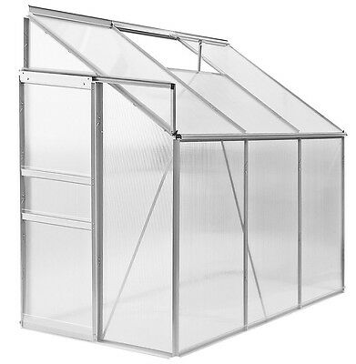 Lean To Greenhouse Polycarbonate Window Vent 192x127x202cm Grow House Greenhouse