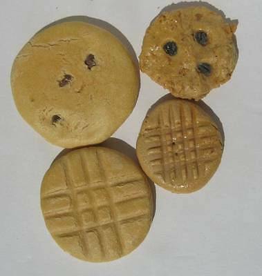 4 Realistic Cookie Props Fake Bakery Food Chocolate Chip Oatmeal Peanut Butter