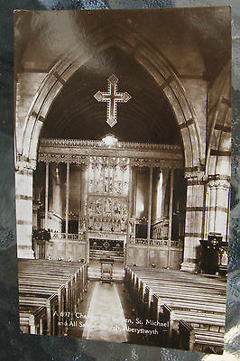 Postcard: St. Michael & All Saints Church, Aberystwyth, Wales. Sepia Unused. e3.