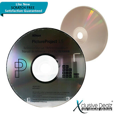 RARE Nikon Picture Project 1.5 Reference Manual CD - Scratch Free Disc #XD11
