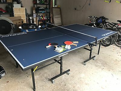 DONNAY Indoor Outdoor Table Tennis Table - Decathlon - Net, Paddles & Balls