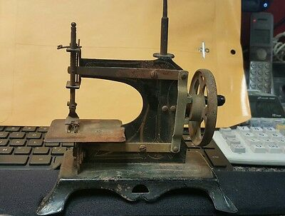 Antique Miniature Hand Crank Toy Sewing Machine made in germany salesman sample?