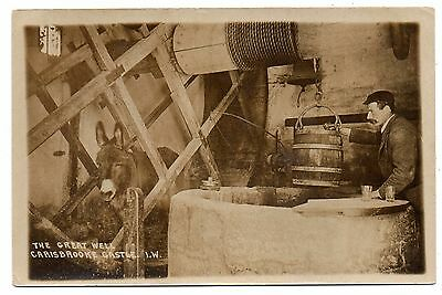 Carrisbrooke Castle,isle Of Wight,england,the Great Well,j.welch Rppc