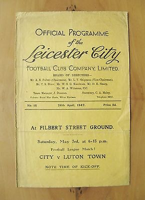 LEICESTER CITY v WEST BROMWICH ALBION 1946/1947 *Good Cond Football Programme*