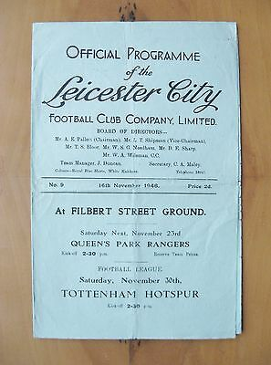LEICESTER CITY v BARNSLEY 1946/1947 *Good Condition Football Programme*