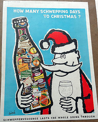 Vintage 1960 Ad : Schweppes – How Many Schwepping Days To  Christmas