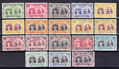 Rhodesia1910-14 DOUBLE HEADS to 3/- sg 119-158 INC SHADES-FRESH MM -MIN CV£1400